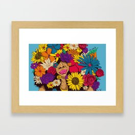 flowers for afro Framed Art Print