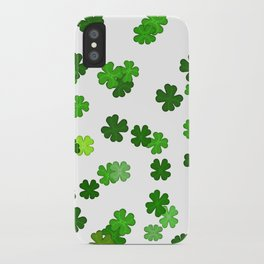 Shamrocks Falling - Pattern for Saint Patricks Day iPhone Case