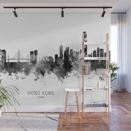 Hong Kong Skyline Wall Mural