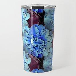 Blue Camelias Travel Mug