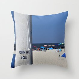 Touch  the Pole Throw Pillow