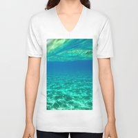 blues V-neck T-shirts featuring Blues by L Shannon Designs