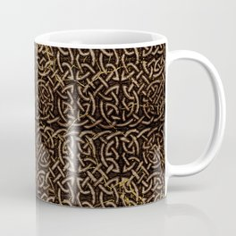 Celtic Wood Pattern with Gold Accents Coffee Mug