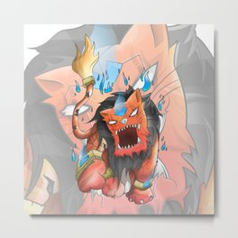 UA Illustration Metal Print