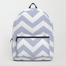 Light periwinkle - heavenly color - Zigzag Chevron Pattern Backpack