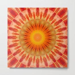 Mandala sunset Metal Print