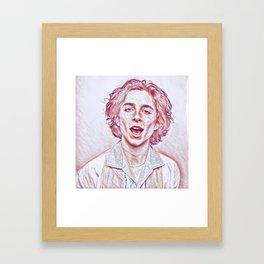 Timothée Chalamet x Sketch Framed Art Print