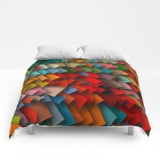 colorful rectangles with shadows Comforters