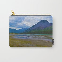 Morrow Peak & the Athabasca River in Jasper National Park, Canada Carry-All Pouch