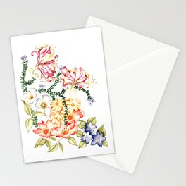 Wild Thyme, Oxlips, Violets, Woodbine, Musk Roses and Eglantine Stationery Cards
