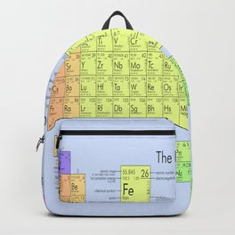 The Periodic Table Blue Background Backpack