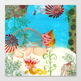 Sea Shell Flowers II Canvas Print