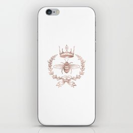 Queen Bee in Rose Gold Pink iPhone Skin