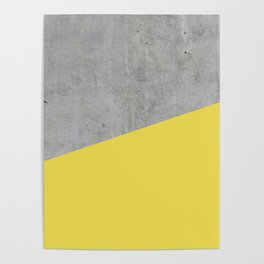Concrete and Meadowlark Color Poster