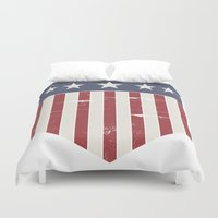 flag Duvet Covers featuring Flag by Emma Harckham