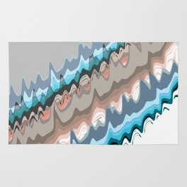 Abstract Meander Rug