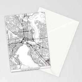 Jacksonville Map White Stationery Cards