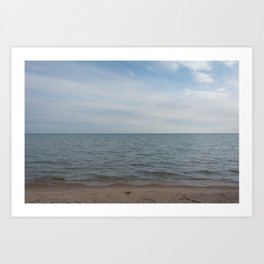 and the waves rolled in Art Print