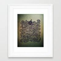 sail Framed Art Prints featuring Sail by Meyyen
