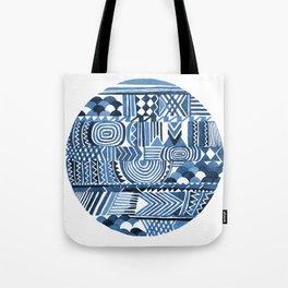 Circle Pattern Blue Tote Bag