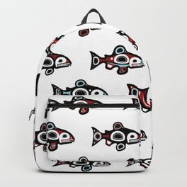 Chances fish Pattern Backpack