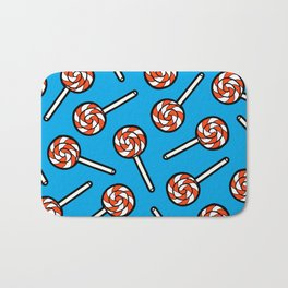 Red, white & blue lollipops pattern Bath Mat