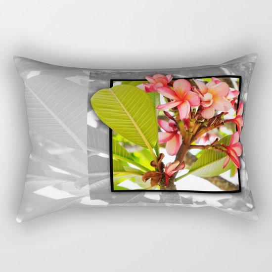 Pink Frangipani Rectangular Pillow