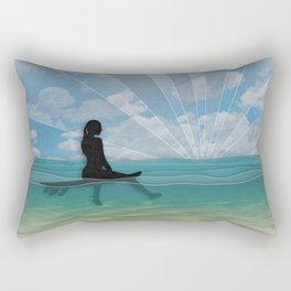 View from a Surfboard Rectangular Pillow