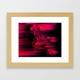 Burnout - Glitch Abstract Pixel Art Framed Art Print