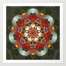 Enlighten Mandala Art Print