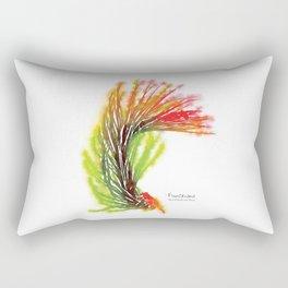 Tillandsia Funckiana Air Plant Watercolors Rectangular Pillow