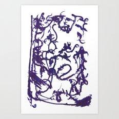 Mystery ink spill Art Print