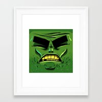 zombie Framed Art Prints featuring Zombie by Terry Mack