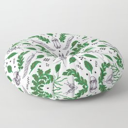 Orienteering insects Floor Pillow