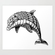 Ornate Dolphin Art Print