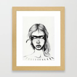Nocturnal Warrior Sketch Framed Art Print