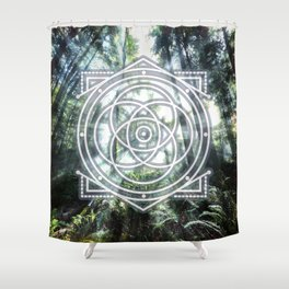 Sacred Geometry Forest Shower Curtain