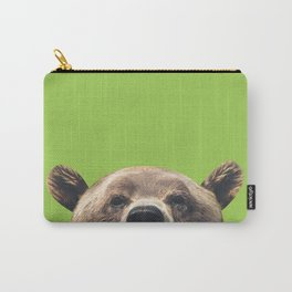 Bear - Green Carry-All Pouch