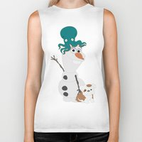 olaf Biker Tanks featuring Olaf & Pals by Cheshire Giraffe
