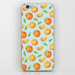Watercolor Oranges Pattern 3 iPhone Skin