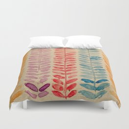 watercolor knit pattern Duvet Cover