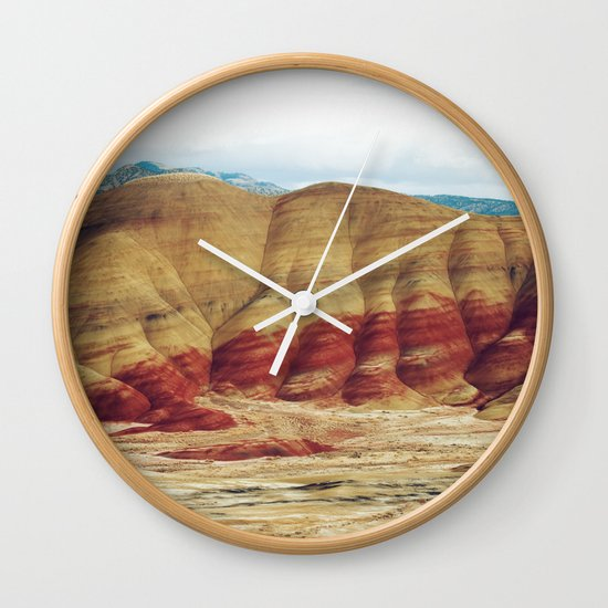 Painted Hills Wall Clock