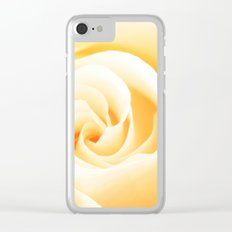 Rose´s heart II - Yellow beautiful rose flower Clear iPhone Case
