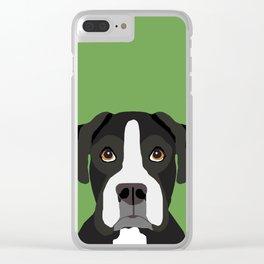Boxer pet portrait cute dog lover rescue dog lover Boxers portrait dog breeds Clear iPhone Case
