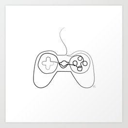 """ Gaming Collection "" - Gaming Console Gamepad Art Print"