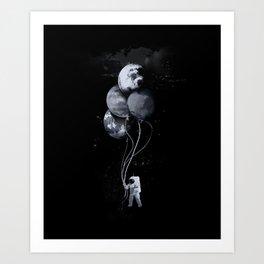 The spaceman's trip Art Print
