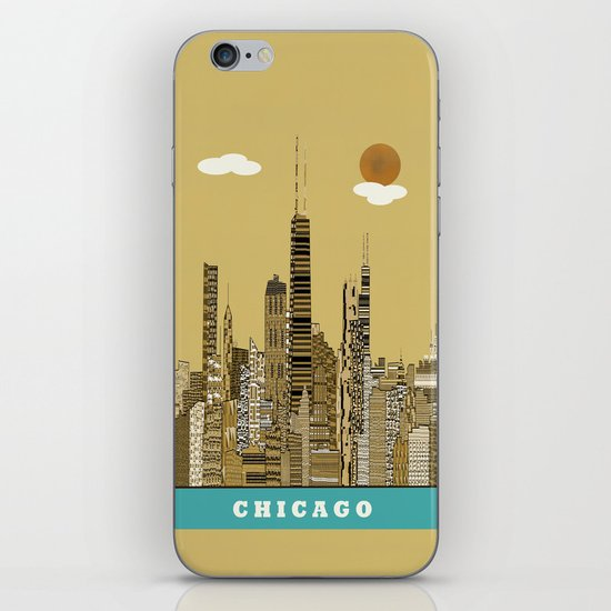 Chicago city (vintage iPhone & iPod Skin