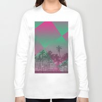 miami Long Sleeve T-shirts featuring Miami by Sander Smit