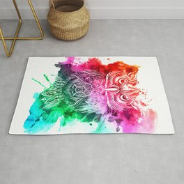 owl watercolor painting Rug