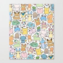 Kawaii Pokémon Canvas Print